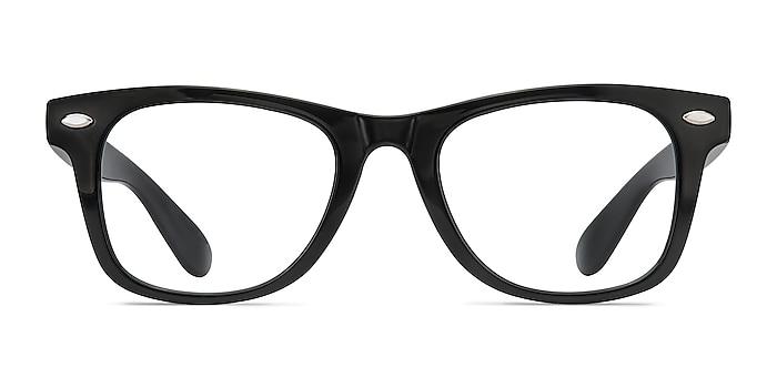 Atlee Black Plastic Eyeglass Frames from EyeBuyDirect