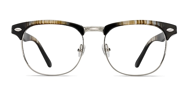 Coexist Striped Plastic-metal Eyeglass Frames