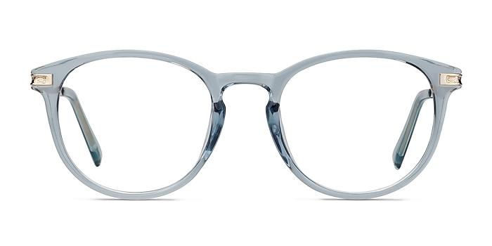 Daphne Clear Blue Plastic-metal Eyeglass Frames from EyeBuyDirect