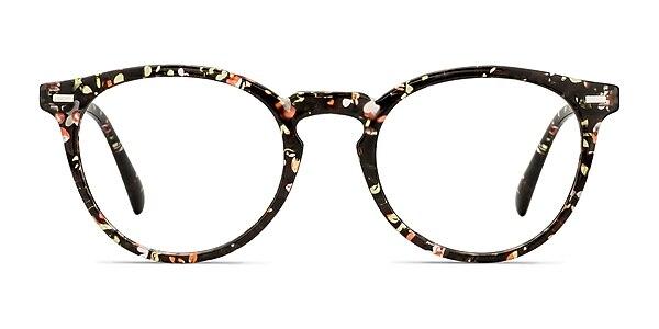 Peninsula Red Floral Plastic Eyeglass Frames