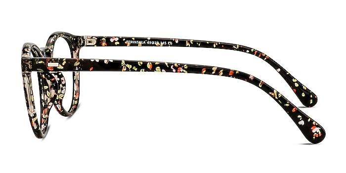 Peninsula Red Floral Plastic Eyeglass Frames from EyeBuyDirect