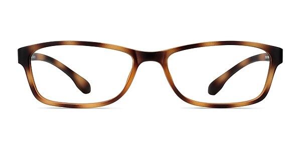 Versus Matte Tortoise Plastic Eyeglass Frames