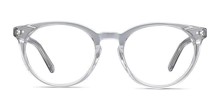 Morning Gray Clear Acetate Eyeglass Frames from EyeBuyDirect