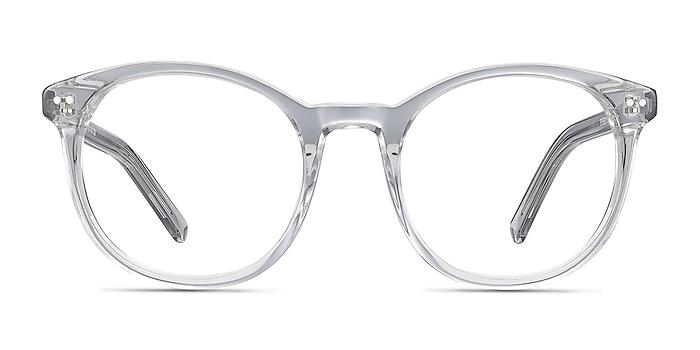 Primrose Gray Clear Acétate Montures de lunettes de vue d'EyeBuyDirect