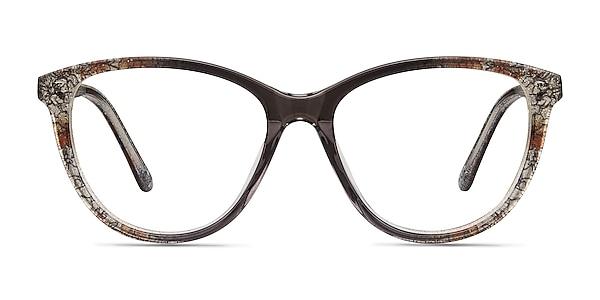 Lancet Clear Floral Acetate Eyeglass Frames