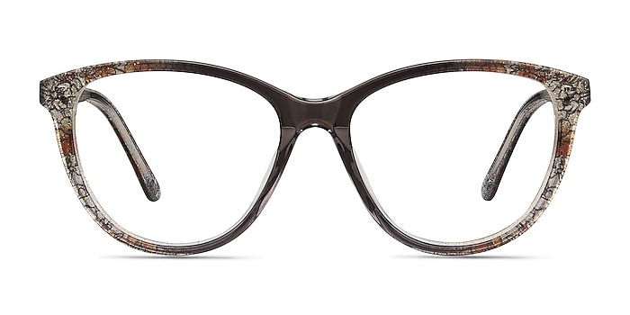 Lancet Clear Floral Acetate Eyeglass Frames from EyeBuyDirect