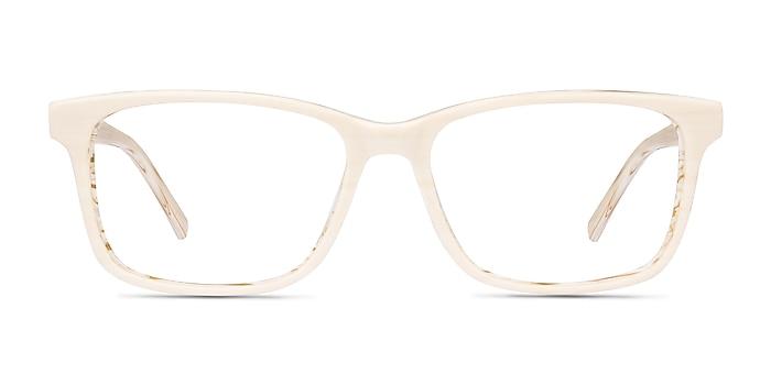Prologue Cream Acetate Eyeglass Frames from EyeBuyDirect