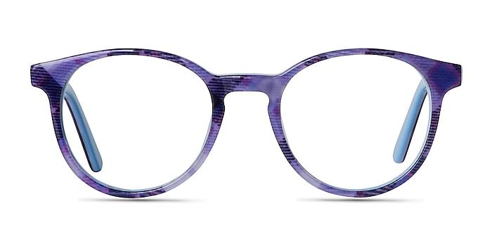 Lariat Purple Striped Acetate Eyeglass Frames from EyeBuyDirect