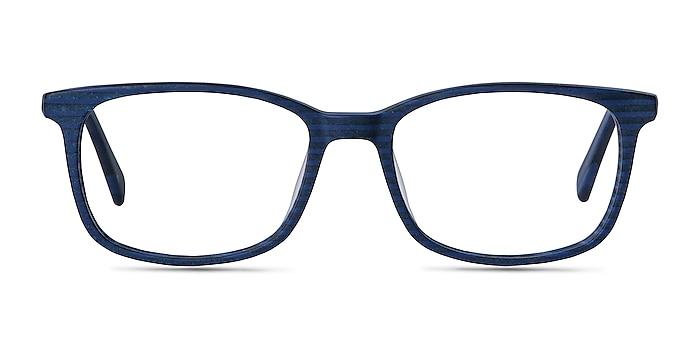 Botanist Navy Striped Acetate Eyeglass Frames from EyeBuyDirect