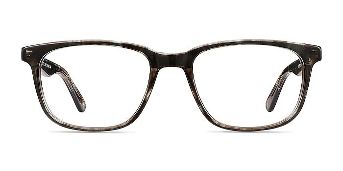 Bristol Gray Floral Acetate Eyeglass Frames from EyeBuyDirect