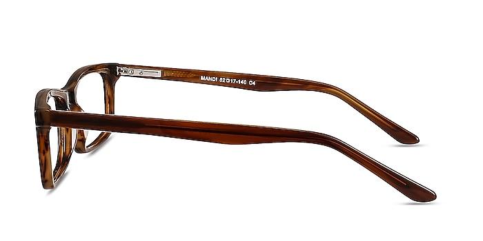 Mandi Brown Striped Acetate Eyeglass Frames from EyeBuyDirect