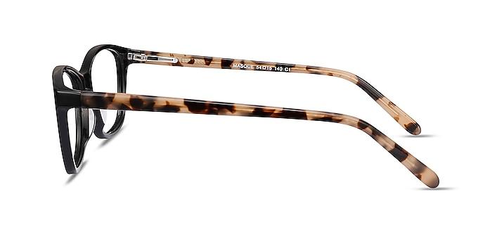Masque Black Acetate Eyeglass Frames from EyeBuyDirect