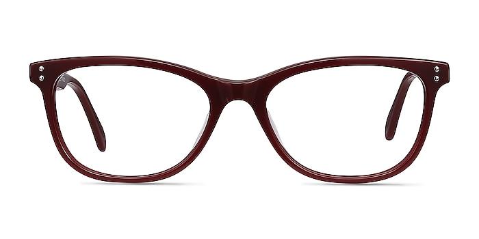 Prodigy Burgundy Acetate Eyeglass Frames from EyeBuyDirect