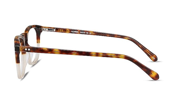 Illusion Tortoise Clear Acetate Eyeglass Frames from EyeBuyDirect