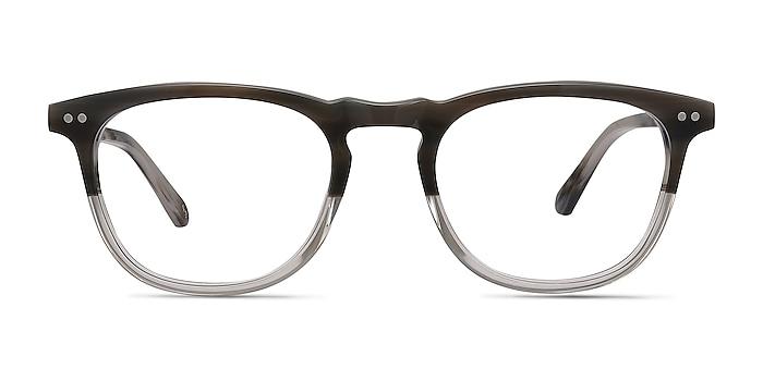 Illusion Striped Clear Acétate Montures de lunettes de vue d'EyeBuyDirect