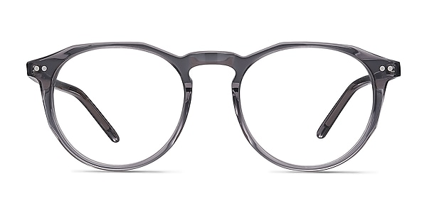 Planete Gray Clear  Acetate Eyeglass Frames