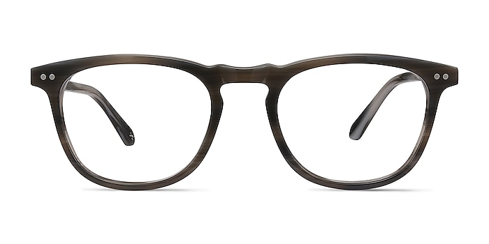 Illusion Gray Striped Acetate Eyeglass Frames from EyeBuyDirect