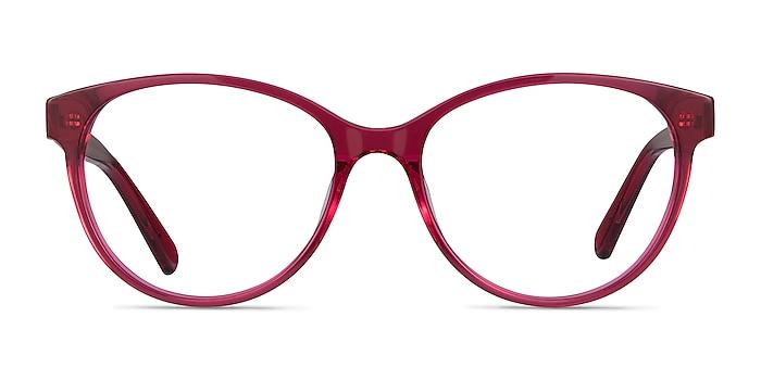 Laya Red Acetate Eyeglass Frames from EyeBuyDirect