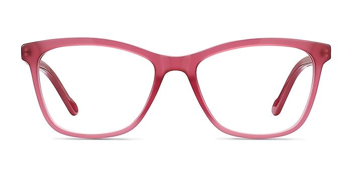Cannes Clear Raspberry Acetate Eyeglass Frames from EyeBuyDirect