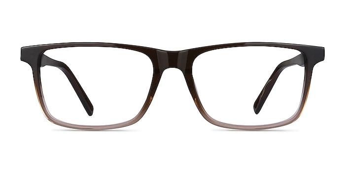 Mariner Clear Brown Acetate Eyeglass Frames from EyeBuyDirect