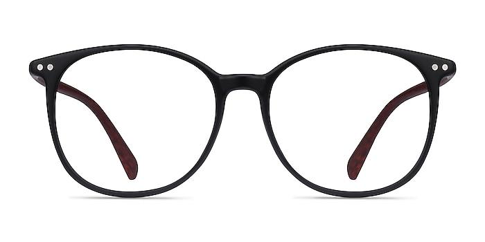 Lucia Matte Black Plastic Eyeglass Frames from EyeBuyDirect