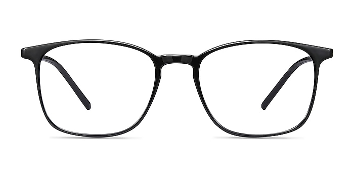 Trenton Black Plastic Eyeglass Frames from EyeBuyDirect
