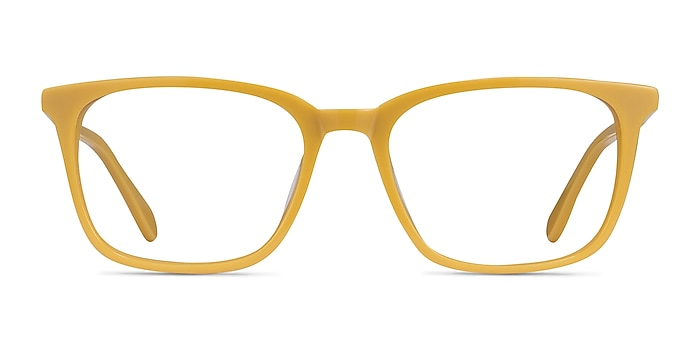 Etched Yellow Acetate Eyeglass Frames from EyeBuyDirect