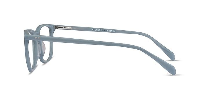 Etched Blue Acetate Eyeglass Frames from EyeBuyDirect