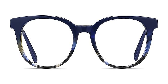 Rialto Blue Floral Acetate Eyeglass Frames from EyeBuyDirect