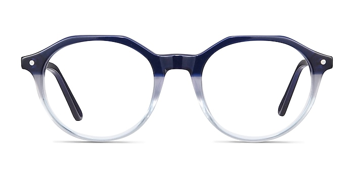 Moby Clear Blue Acetate Eyeglass Frames from EyeBuyDirect