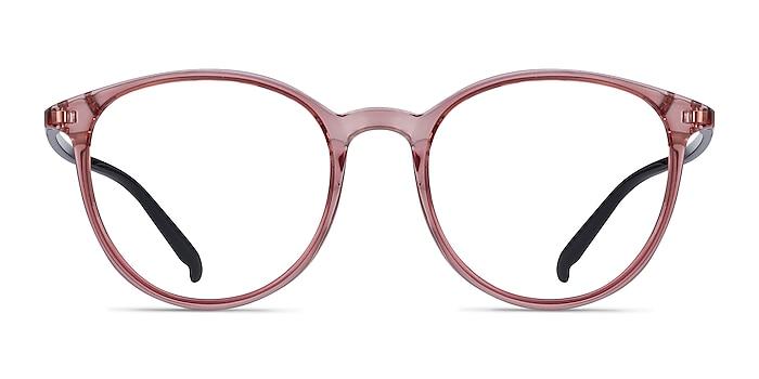 Macaron Clear Pink Plastic Eyeglass Frames from EyeBuyDirect