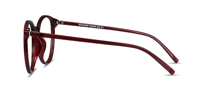 Macaron Burgundy Plastic Eyeglass Frames from EyeBuyDirect