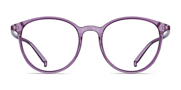 Macaron Clear Purple Plastic Eyeglass Frames