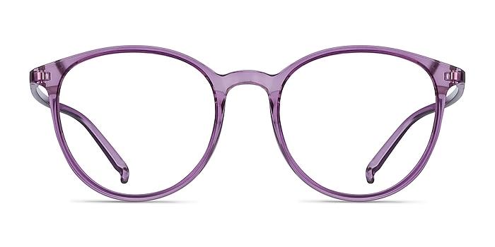 Macaron Clear Purple Plastique Montures de lunettes de vue d'EyeBuyDirect