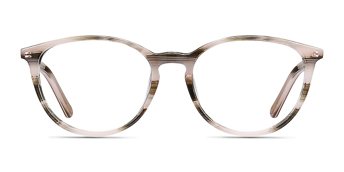 Messenger Striped Acetate Eyeglass Frames from EyeBuyDirect