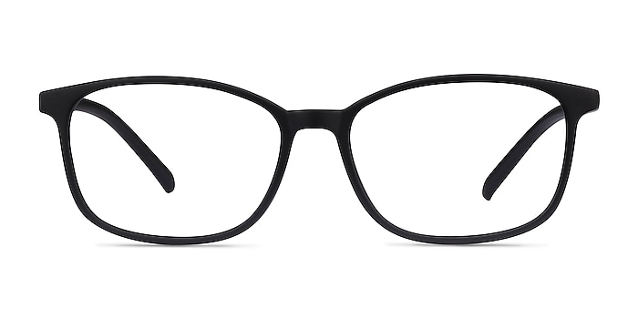 Median Noir Plastique Montures de lunettes de vue d'EyeBuyDirect