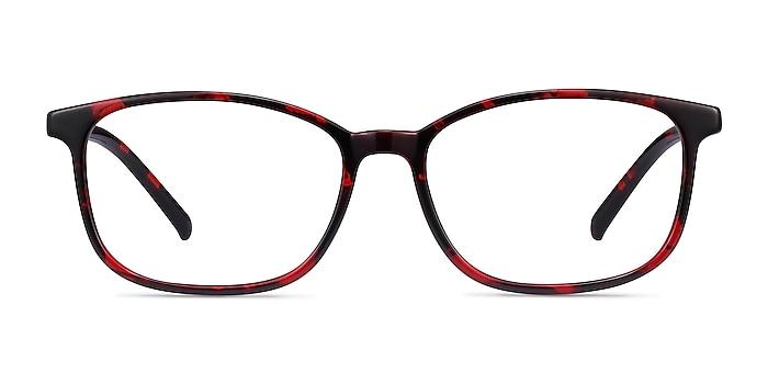 Median Red Floral Plastic Eyeglass Frames from EyeBuyDirect