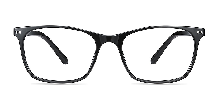Arctic Black Plastic Eyeglass Frames from EyeBuyDirect