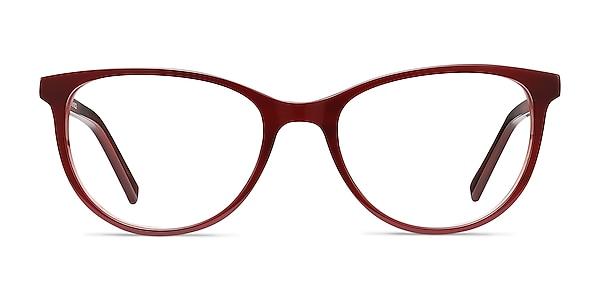 Sphinx Red Striped Acetate Eyeglass Frames