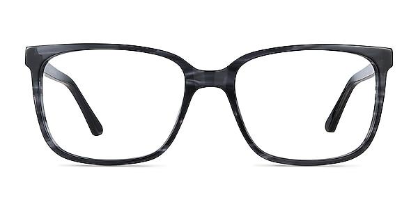 Formula Gray Striped Acetate Eyeglass Frames