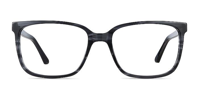 Formula Gray Striped Acetate Eyeglass Frames from EyeBuyDirect