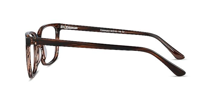 Formula Brown Striped Acetate Eyeglass Frames from EyeBuyDirect
