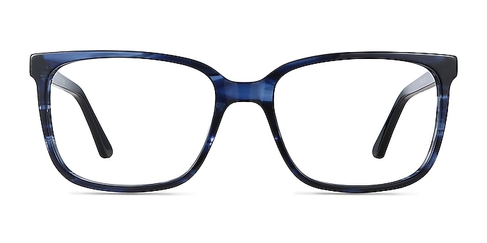 Formula Blue Striped Acetate Eyeglass Frames from EyeBuyDirect