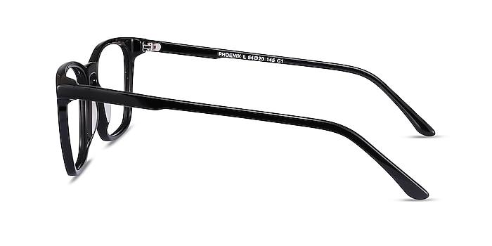 Phoenix Noir Acétate Montures de lunettes de vue d'EyeBuyDirect