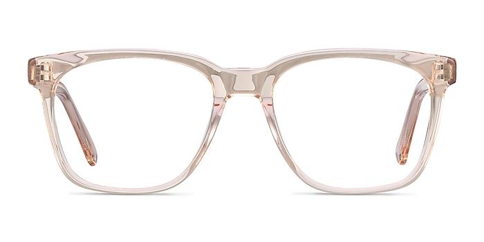 Jamie Clear Brown Acetate Eyeglass Frames from EyeBuyDirect