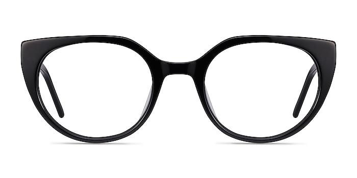 Rhyme Black Acetate Eyeglass Frames from EyeBuyDirect