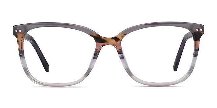 North Gray Striped Acetate Eyeglass Frames from EyeBuyDirect