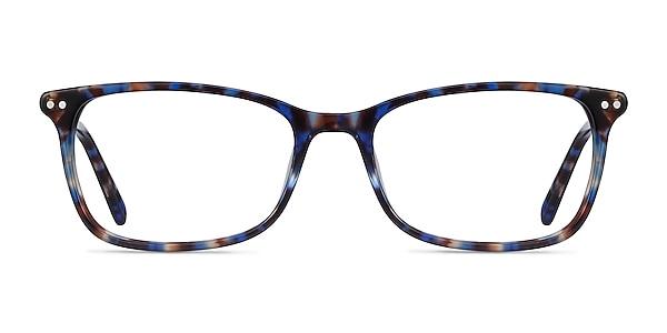 Alette Blue Floral Acetate Eyeglass Frames