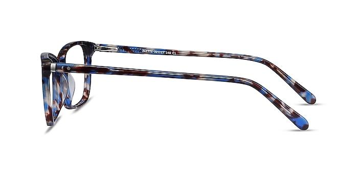 Alette Blue Floral Acetate Eyeglass Frames from EyeBuyDirect