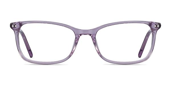 Alette Clear Purple Acetate Eyeglass Frames